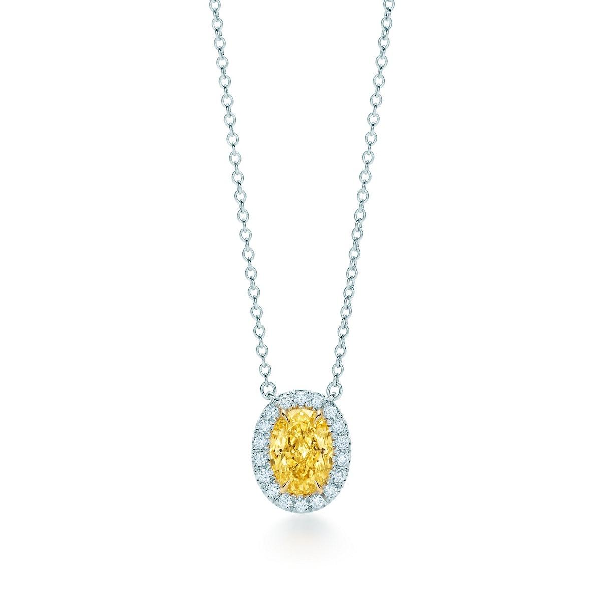Tiffany & Co. Yellow Diamond Pendant