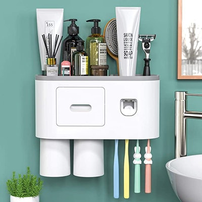 showgoca Wall-Mounted Toothbrush Holder