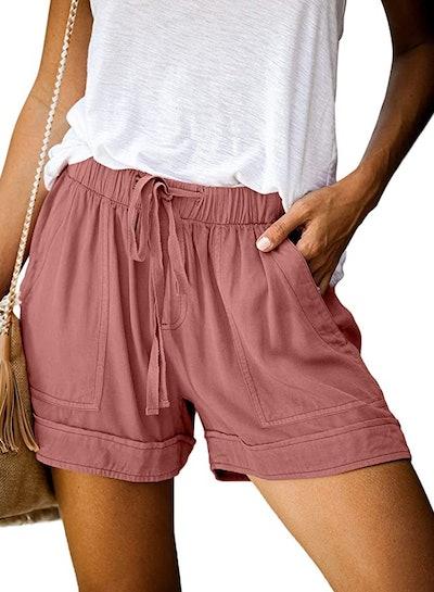 Dokotoo Drawstring Casual Pocketed Shorts