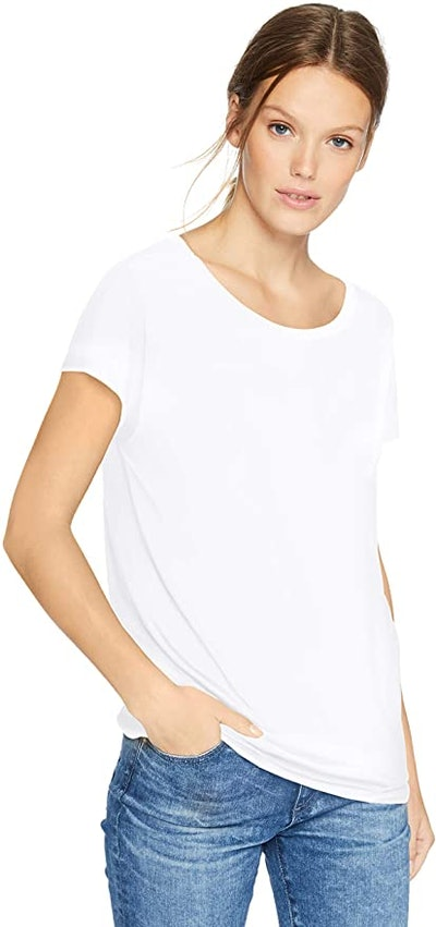Daily Ritual Jersey Short-Sleeve Boat Neck Shirt