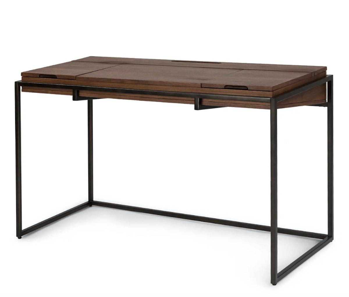 Oscuro Walnut and Dark Bronze Desk
