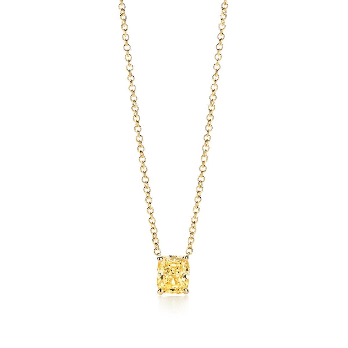 Tiffany & Co. Cushion-Cut Yellow Diamond Pendant