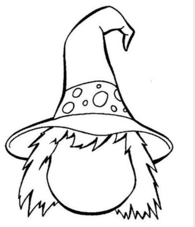 A DIY Witch's Coloring Page