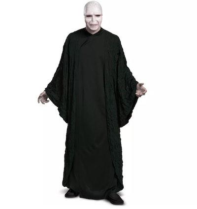 Adult dressed up in Voldermort Halloween costume