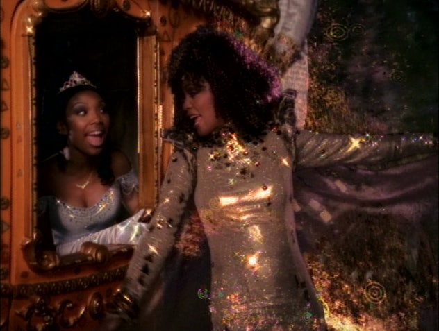 Whitney Houston and Brandy as the Fairy Godmother and Cinderella