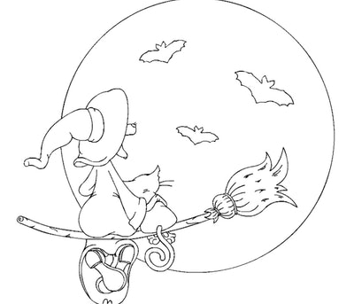 A Sweet Witch Coloring Page