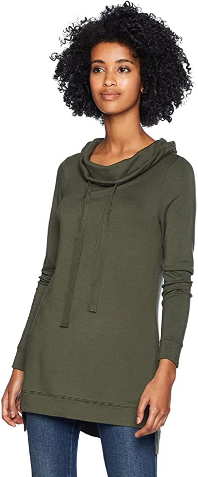 Daily Ritual Supersoft Terry Funnel-Neck Tunic