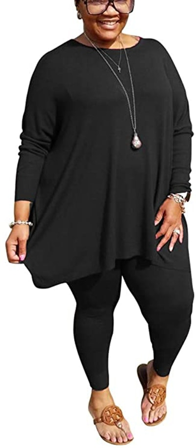 BFFBABY Plus Size Long Sleeve Tracksuit