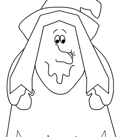 Sweet Witch Coloring Page