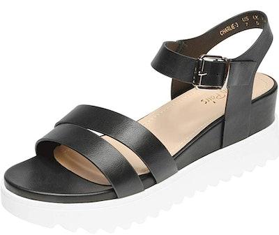 DREAM PAIRS Ankle Strap Platform Wedge Sandals