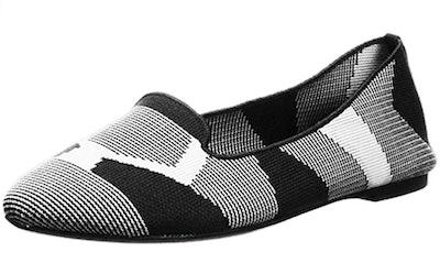 Skechers Cleo-Sherlock-Engineered Knit Loafer Skimmer Ballet Flat