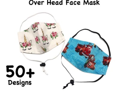 over the head kids face mask