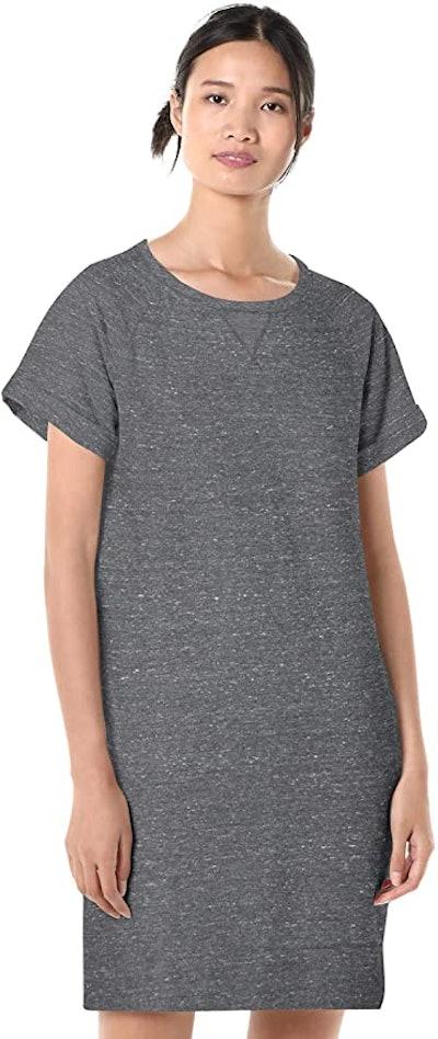 Goodthreads Relaxed Fit Modal Fleece Short Roll-Sleeve Sweatshirt