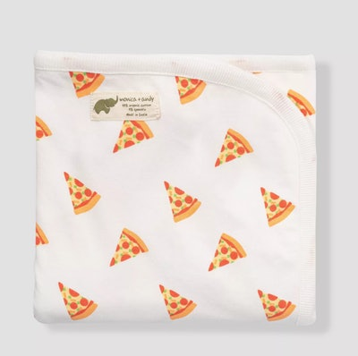 Monica + Andy Coming Home Swaddle Blanket - Pizza Day