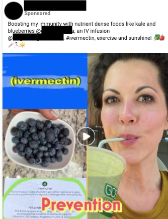 Advertisements have sprouted up on Facebook to promote ivermectin as a COVID-19 treatment, despite a...