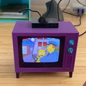 Someone created a replica of the TV from The Simpsons.