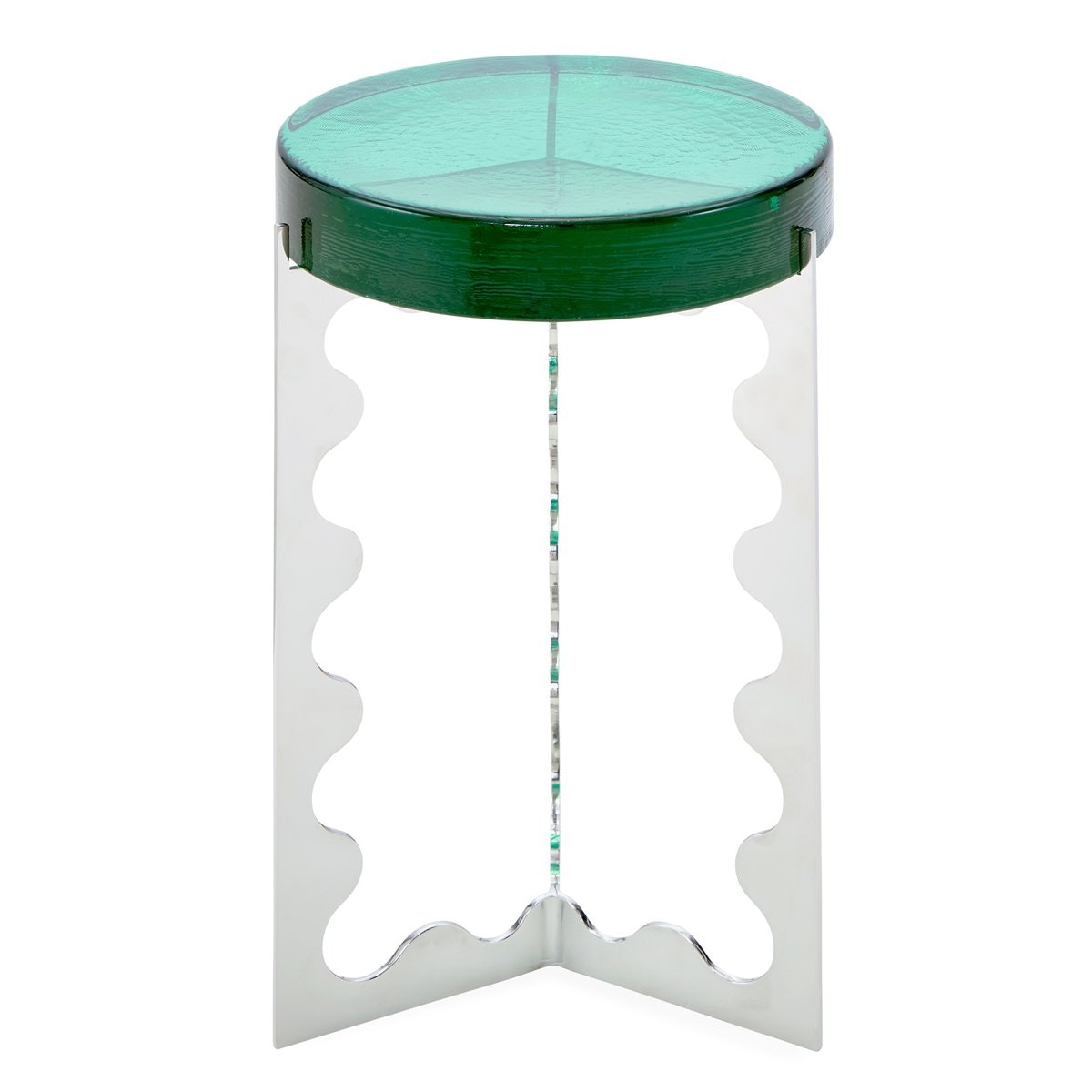 Tall Ripple Accent Table