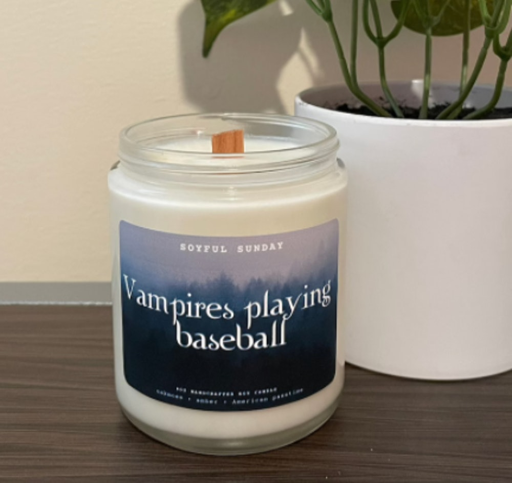 Vampires Playing Baseball Scented Candle