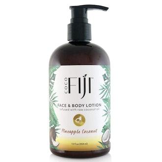 Coco Fiji Face & Body Lotion, Pineapple Coconut