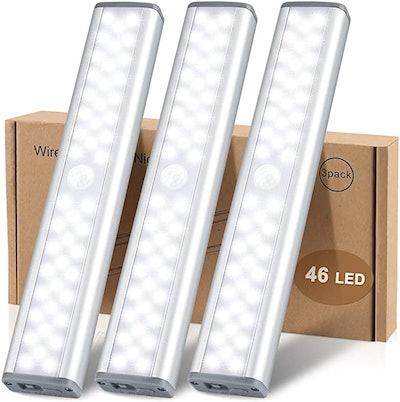 MCGOR LED Rechargeable Motion Sensor Closet Light (3-Pack)