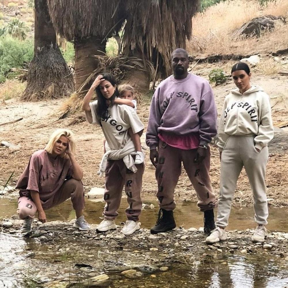 Khloe Kardashian Kourtney Kardashian Kim Kardashian Kanye West Sunday Service merch