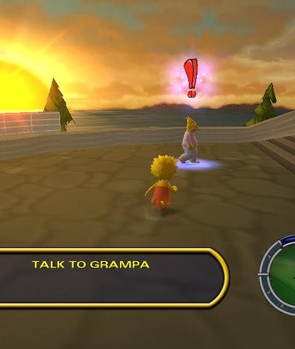 A screenshot from the original Simpsons Hit & Run video game. Gaming. Games.