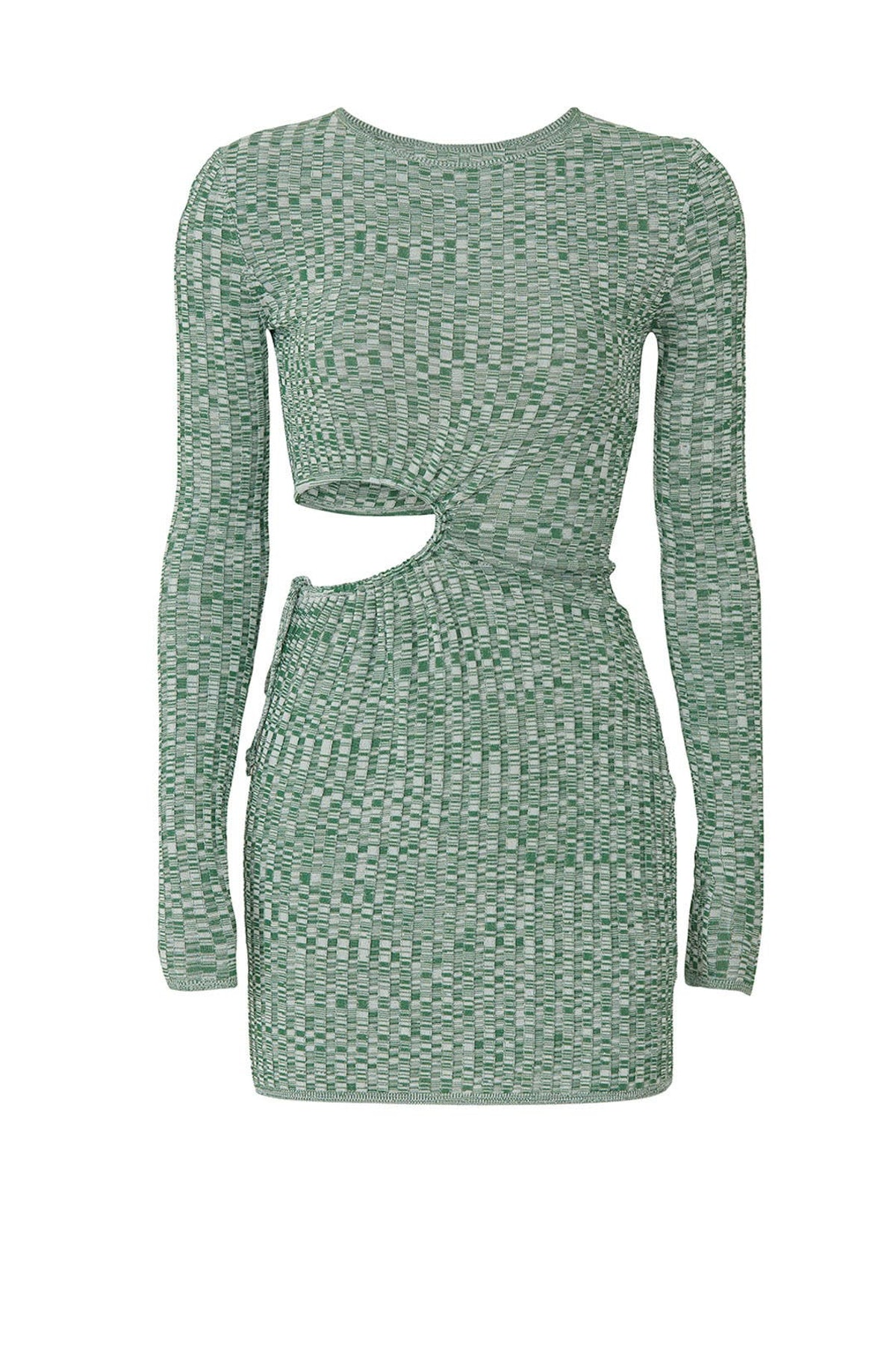 Turquoise cutout knit dress from Aya Muse, available to shop or rent via Rent The Runway.