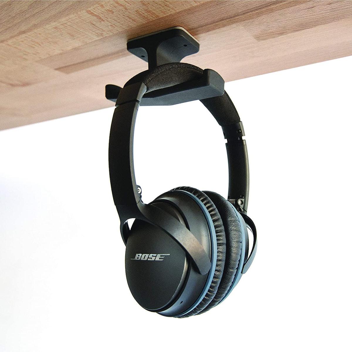 The Anchor Under-Desk Headphone Mount