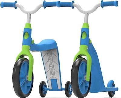 K6 Toddler Scooter, Convertible 4-in-1 Ride-On Balance Trike & Training Bike