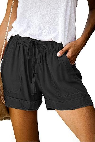 ROSKIKI Casual Drawstring Shorts