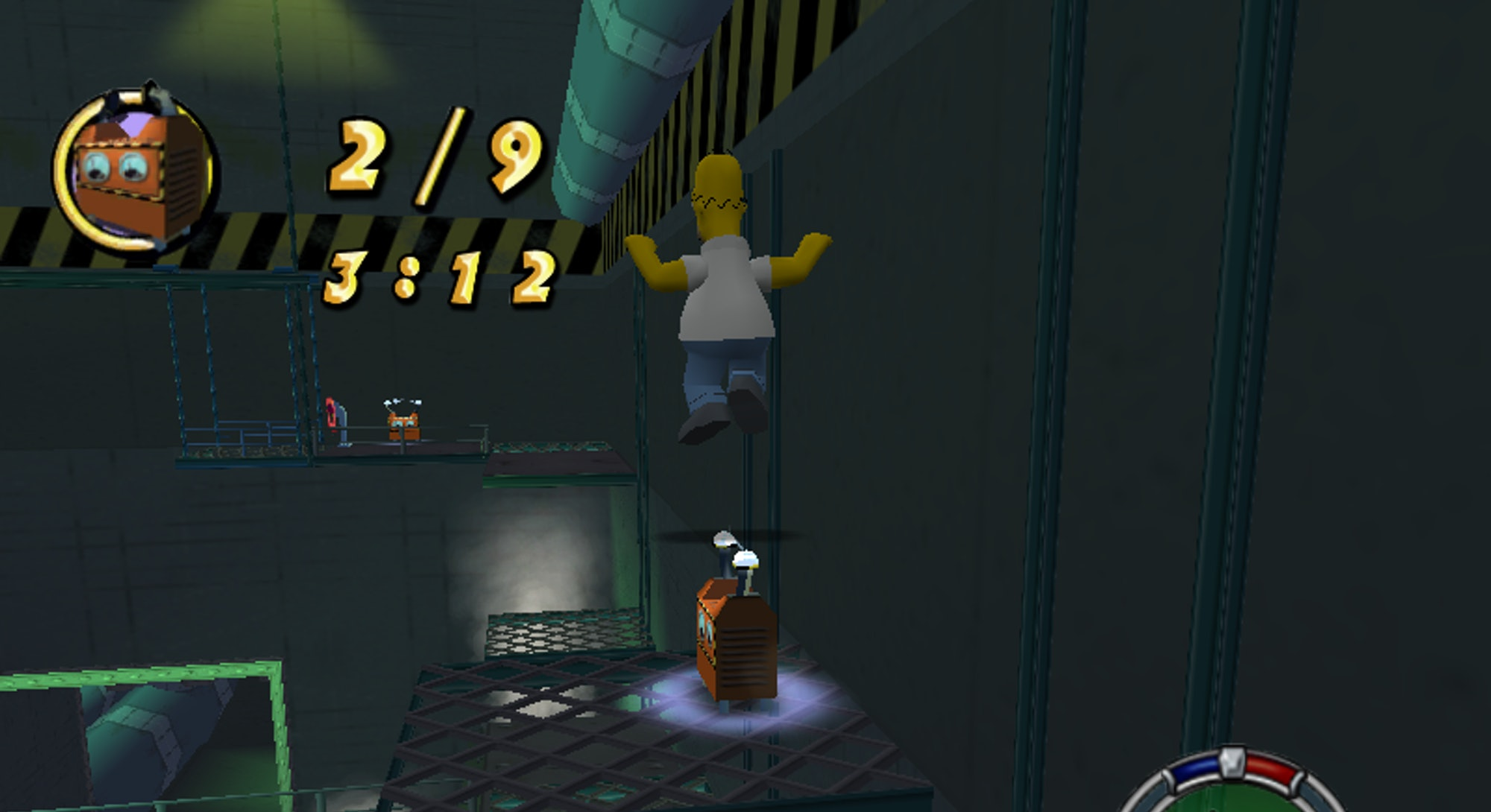 A screenshot of the original Simpsons: Hit and Run