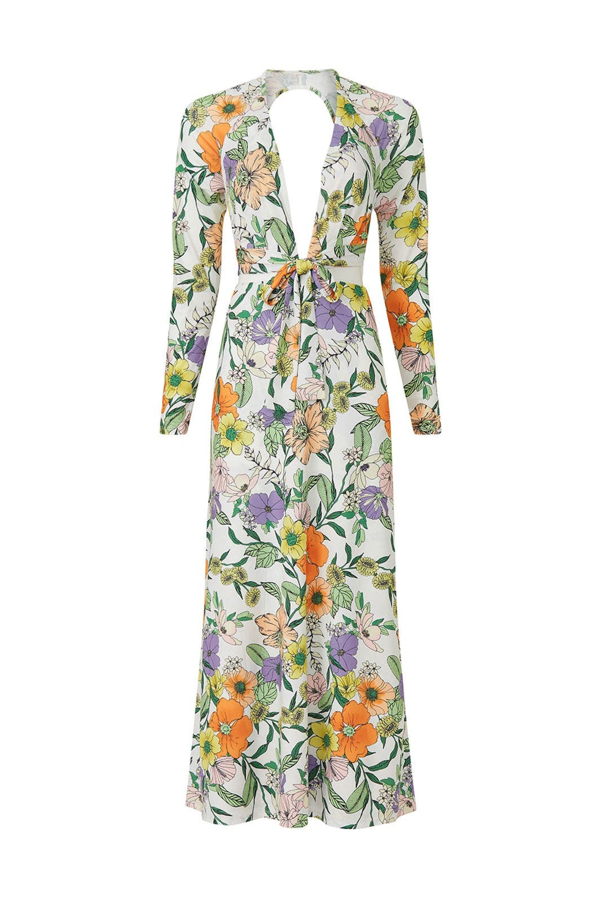 Assi maxi floral dress from AFRM, available to rent or shop via Rent The Runway.