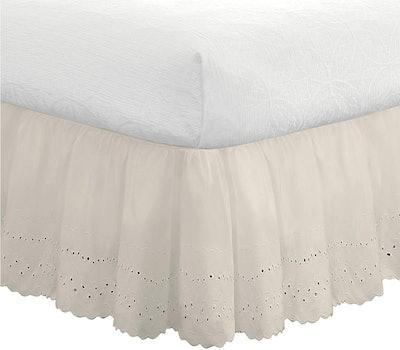 Fresh Ideas Eyelet Bed Skirt