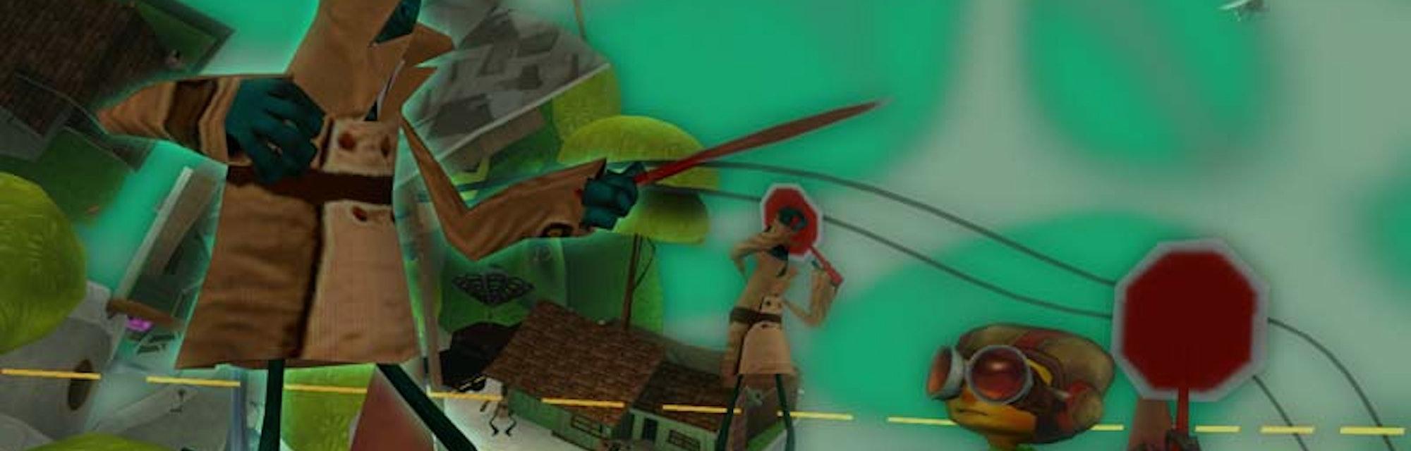 A screenshot from Psychonauts