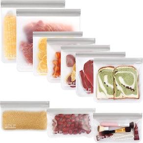 SPLF BPA Free Reusable Storage Bags (10-Pack)