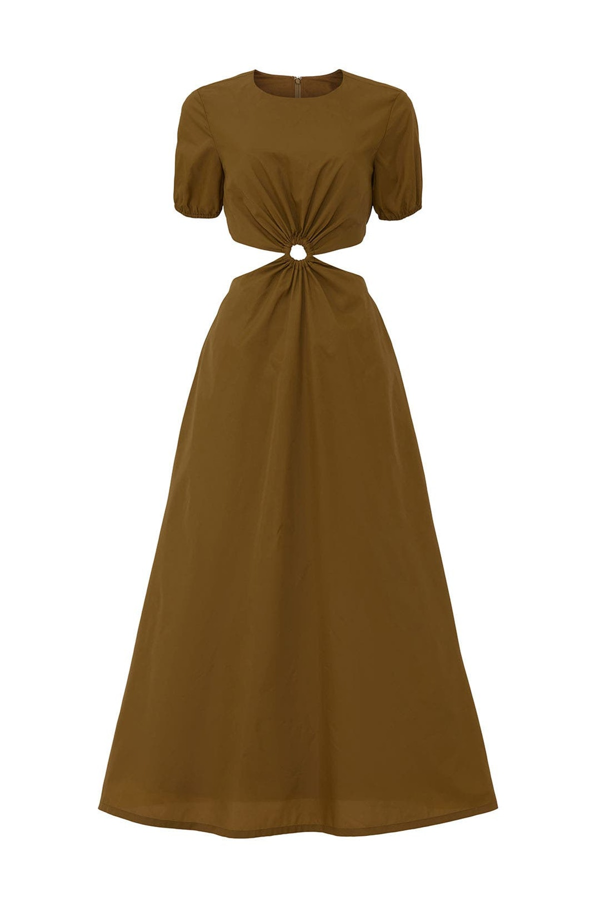 Calpso brown maxi dress from STAUD, available to shop or rent via Rent The Runway.