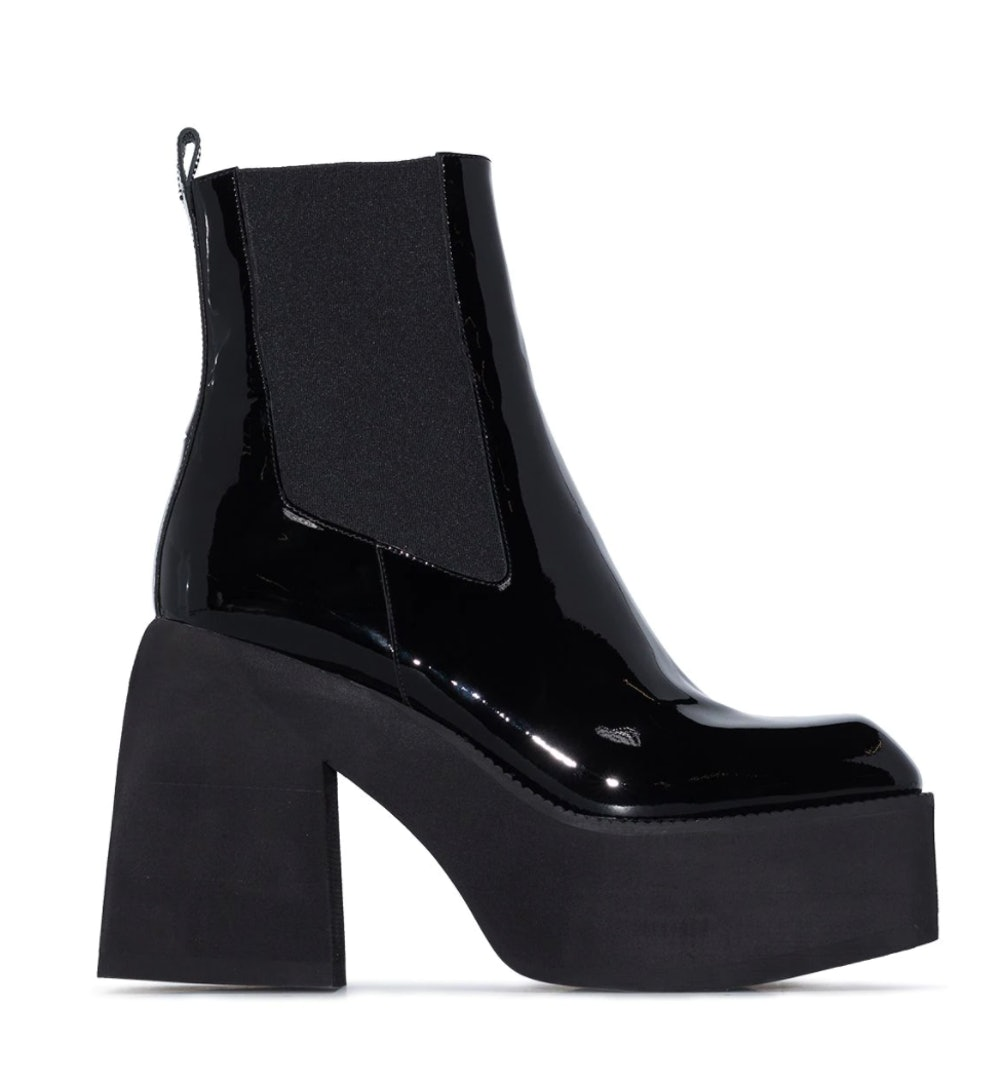 105mm Leather Ankle Boots