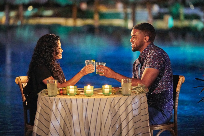 Ivan Hall and Jessenia Cruz on a date during Episode 2 of Bachelor In Paradise