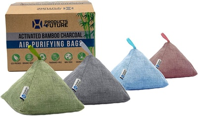 PRODUCTS4FUTURE Activated Bamboo Charcoal Air Purifying Bags (4-Pack)
