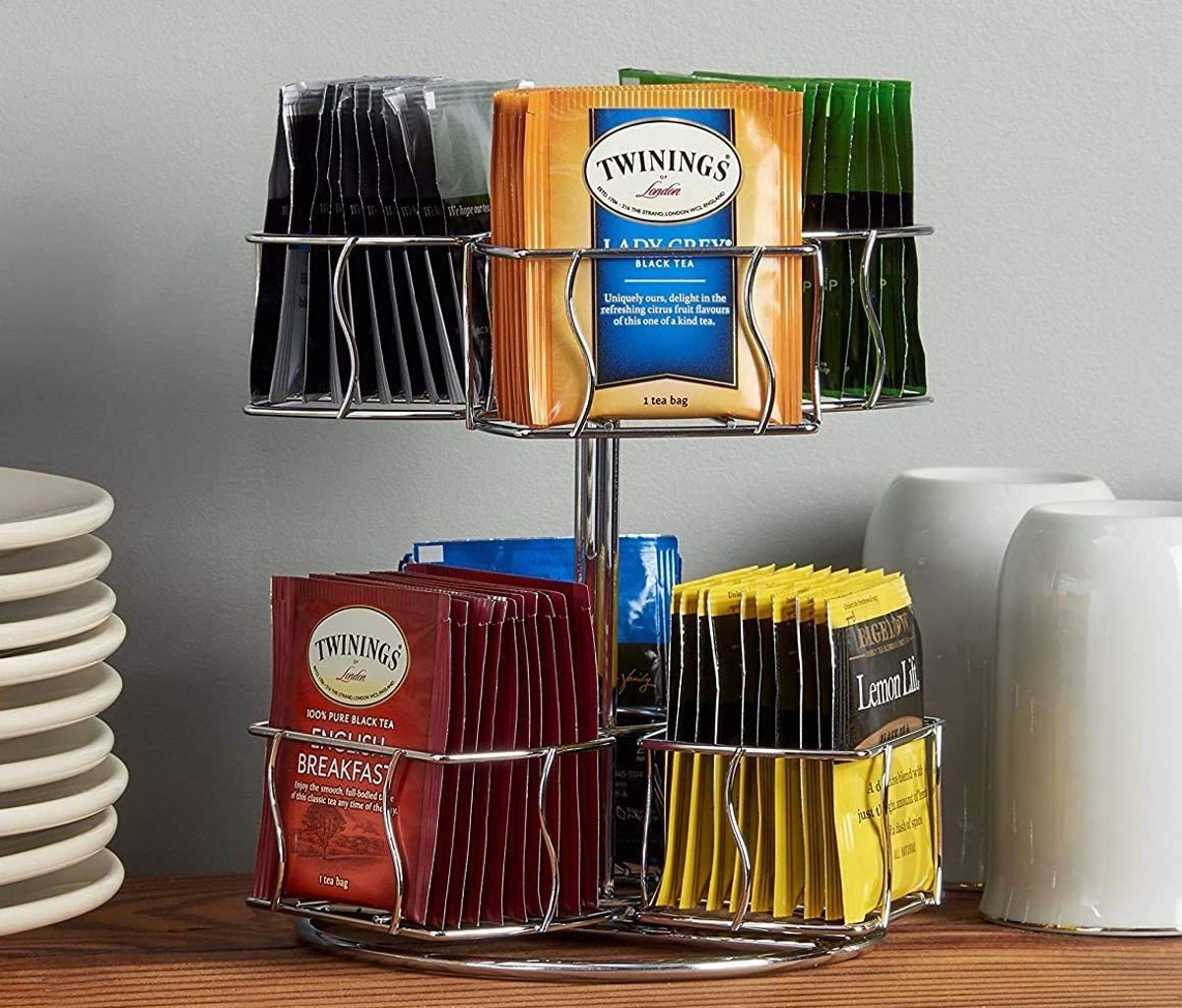 Nifty Solutions Tea Bag Storage and Organizer Spinning Carousel
