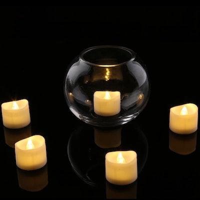 Homemory Flickering LED Tea Lights (12 Pack)