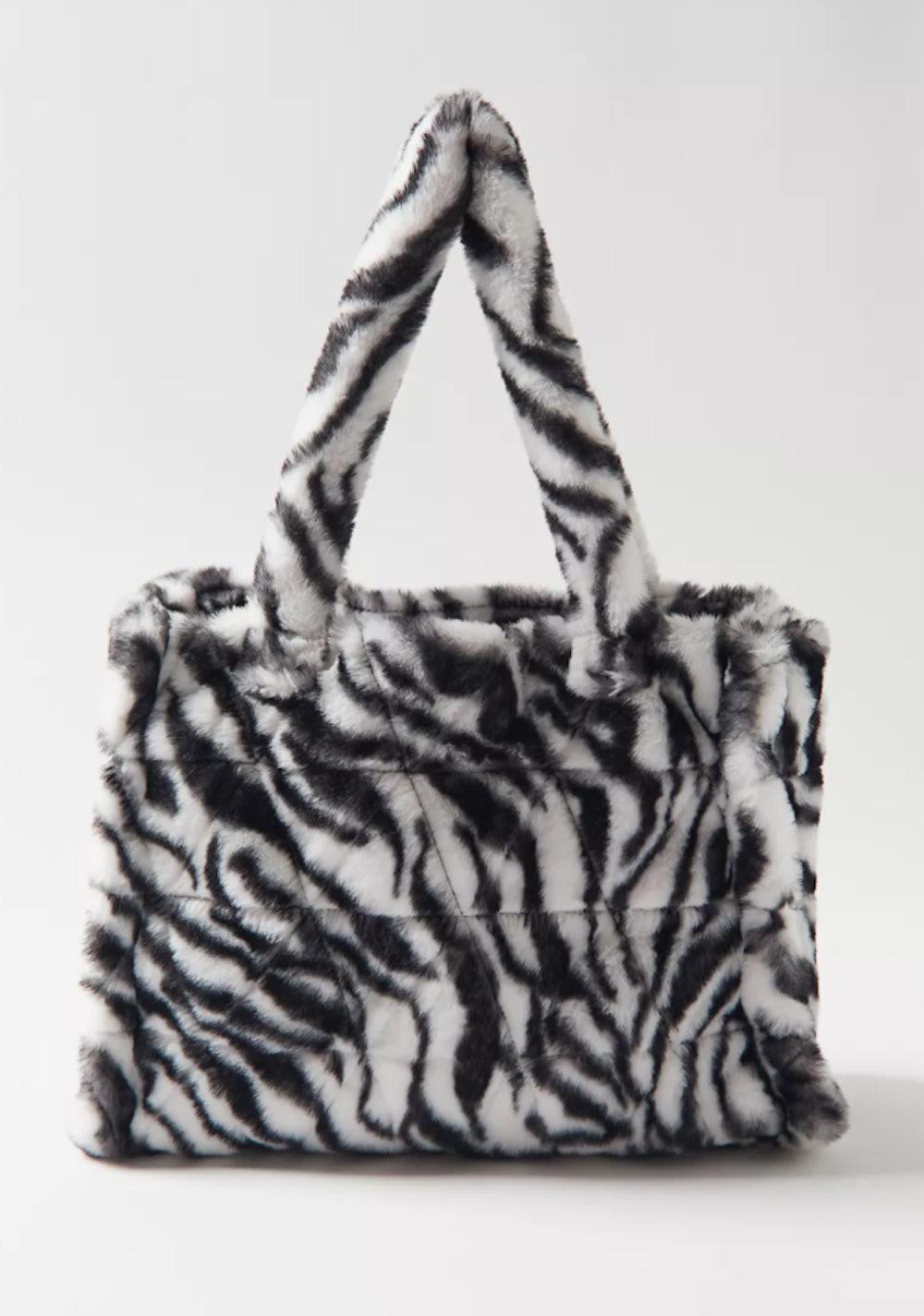Faux Fur Tote Bag