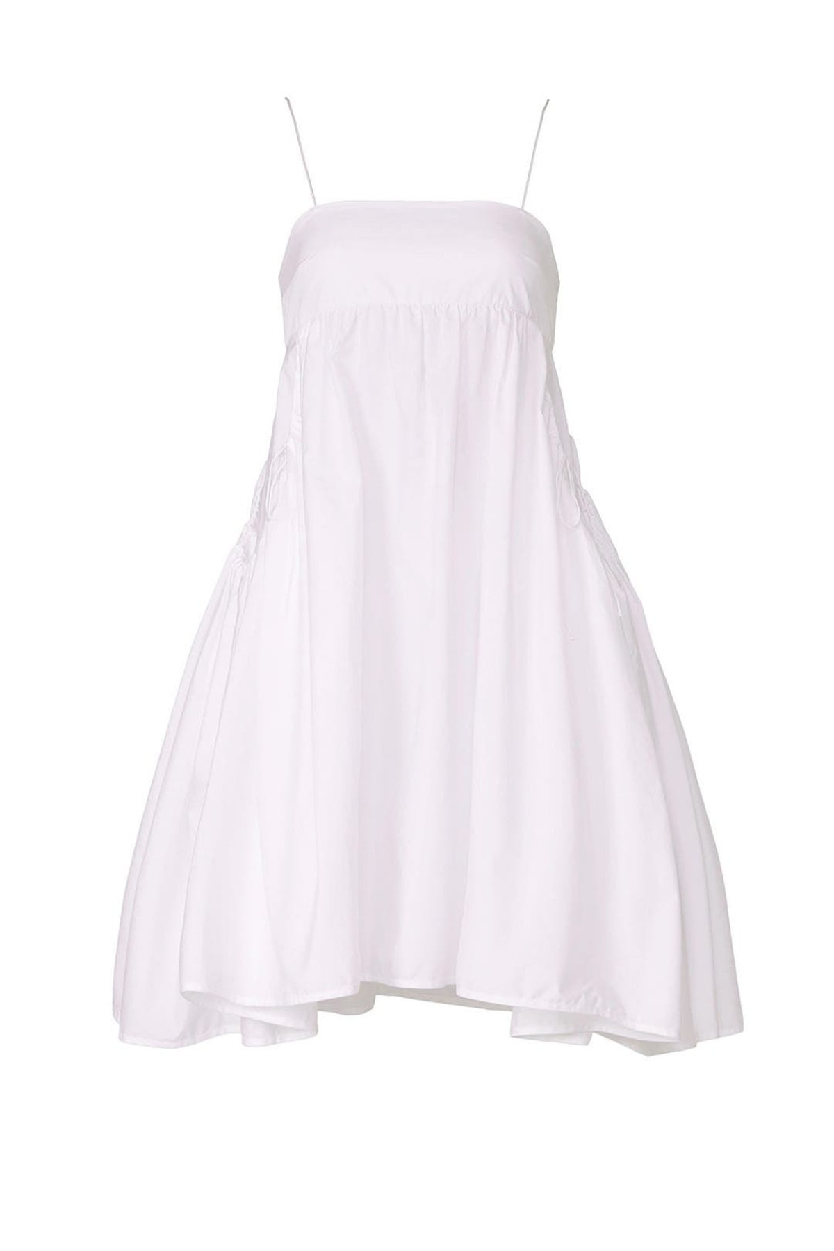 White Lisbeth mini dress from Cecilie Bahnsen, available to shop or rent via Rent The Runway.