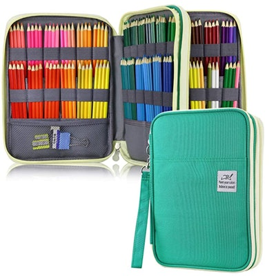 YOUSHARES 192 Slots Colored Pencil Case