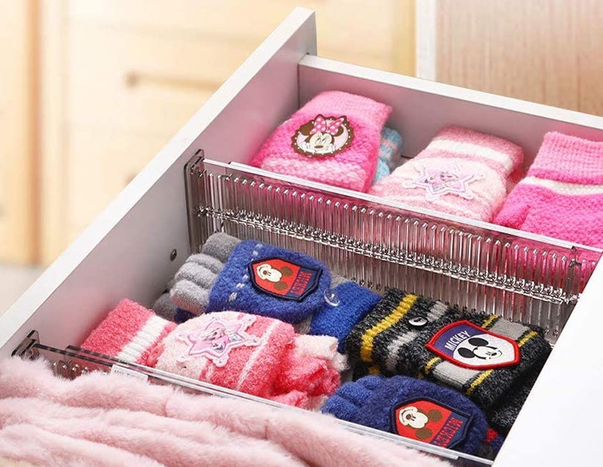 Clothes Drawer Dividers Organizer