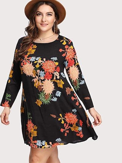 Romwe Plus Size Boho Dress