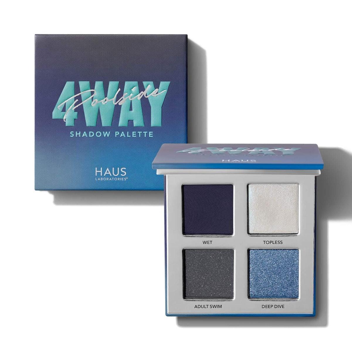 Haus Laboratories Four-Way Shadow Palette in Poolside