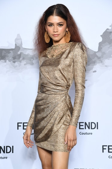 Zendaya attends the Cocktail at Fendi Couture Fall Winter 2019/2020 on July 04, 2019 in Rome, Italy....