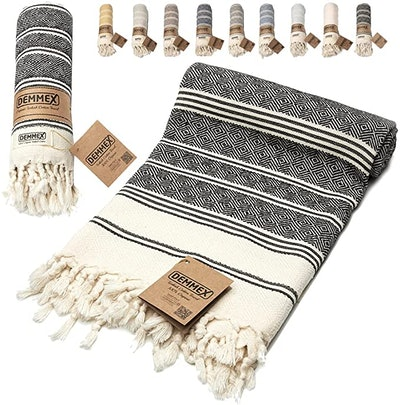 DEMMEX Diamond Weave Turkish Cotton Towel