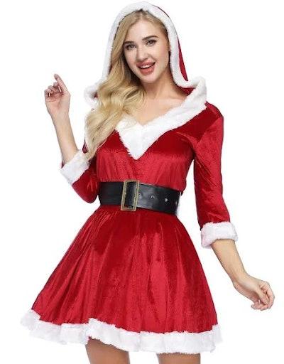 ADOMI 2 Piece Mrs. Claus Costume